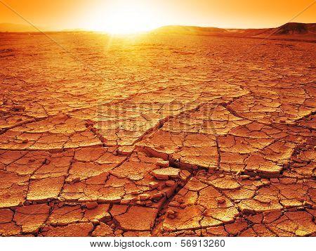 Sunset At A Desert