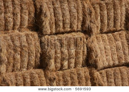 Hay bale background texture