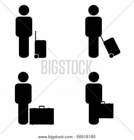 People Travel Icon Vector