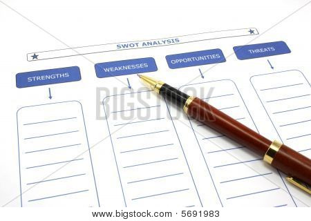 Swot Analysis With Pen