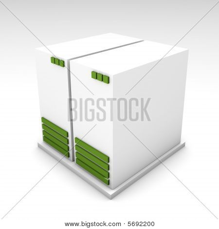 Green 3D Computer Server