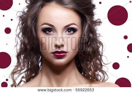 Beautiful Woman On Conceptual Background