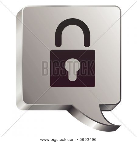 Lock speech bubble