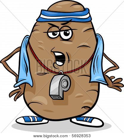 Couch Potato Saying Cartoon