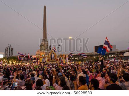 Shutdown Bangkok - Bangkok,thailand-january 13 : Unidentified Protesters Shut Down The City Or The R