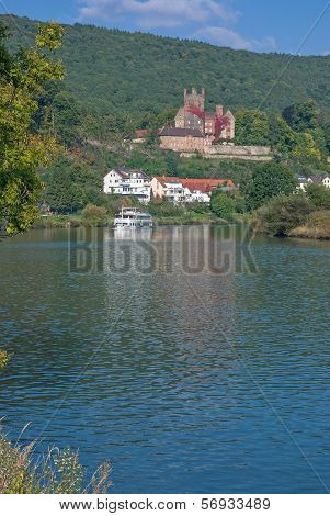 Neckarsteinach,Neckar River,Germany