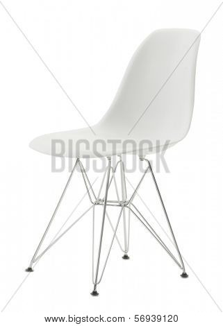 white minimal isolated chair