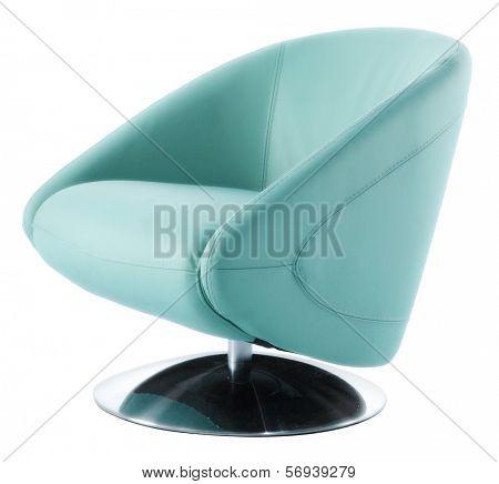 blue modern isolated armchair