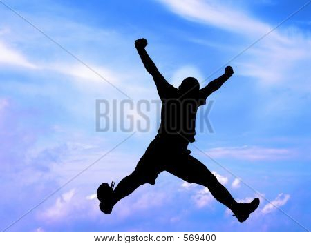 Jumping Silhouette-clipping Path