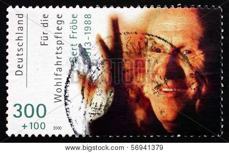 Postage Stamp Germany 2000 Karl Gerhart Frobe, Film Actor