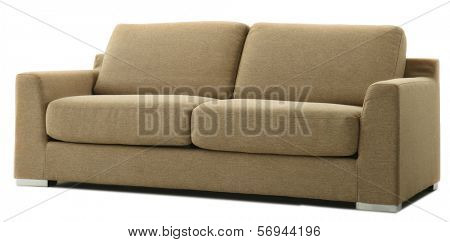 isolated brown couch