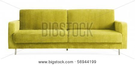 isolated green couch