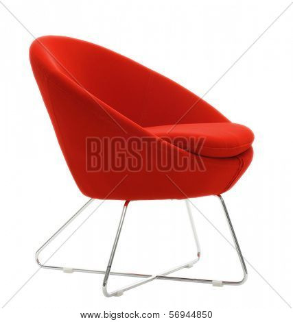 isolated red chair