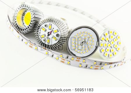 Differently Smd Led Chips On The Bulb
