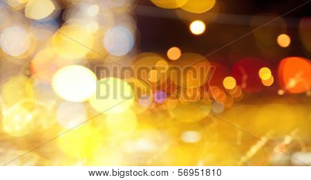 Background image with blurs and lights. Party concept
