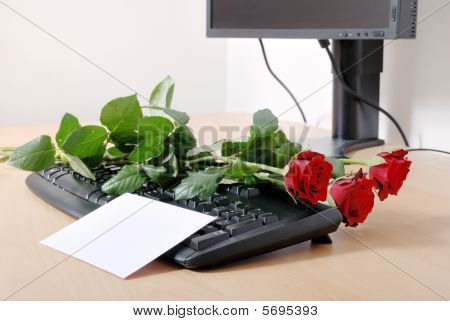 Love Message On Computer Keyboard
