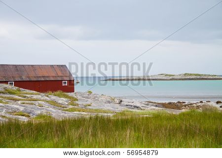 A House On The Seaside In Northern Norway