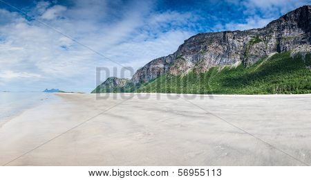 Empty, Untouched Beach In Northern Norway