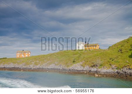 Houses On An Island In Northern Norway