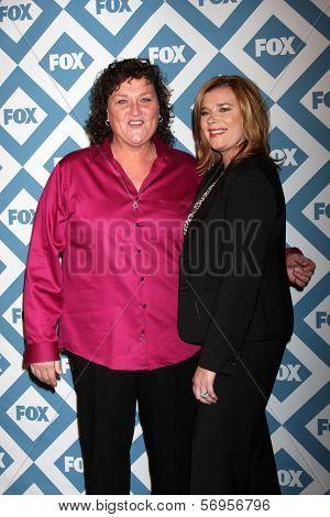 LOS ANGELES - JAN 13:  Dot Marie Jones, Bridgett Casteen at the FOX TCA Winter 2014 Party at Langham Huntington Hotel on January 13, 2014 in Pasadena, CA