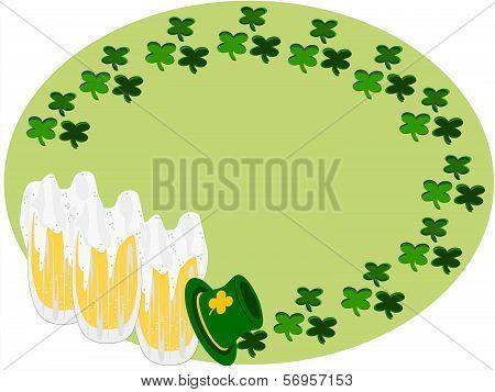 clover beer irish hat