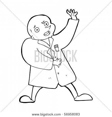 cartoon mad scientist
