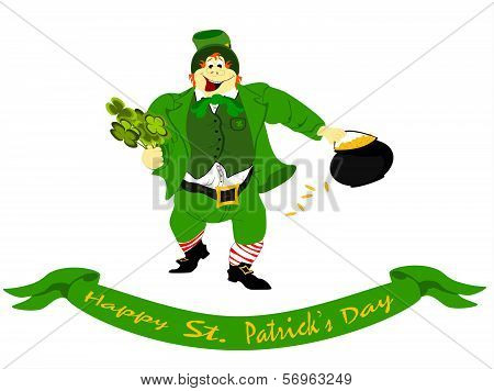 leprechaun happy st. patricks day