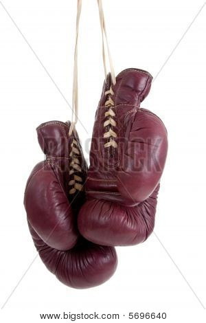 Leather, Antique Boxing Gloves