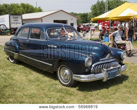 1947 Black Buick Eight Car Side View