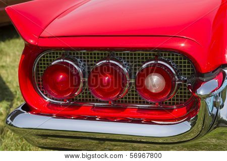 1960 Red Ford Thunderbird Hardtop Convertible Tail Light
