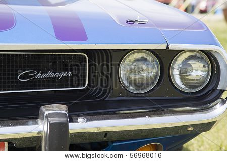 1970 Purple Dodge Challenger Headlight