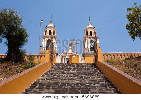 Cholula Church Stairs
