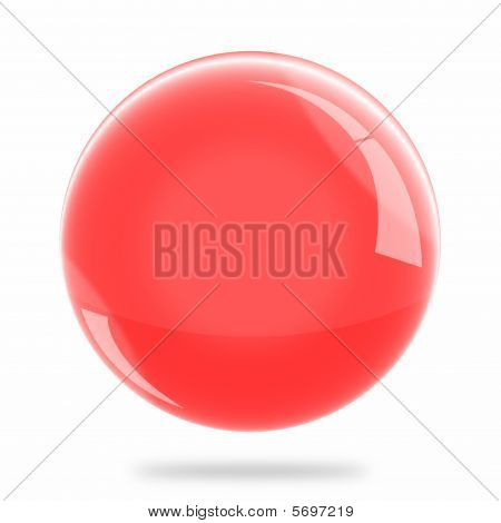 Blank Red Sphere Float