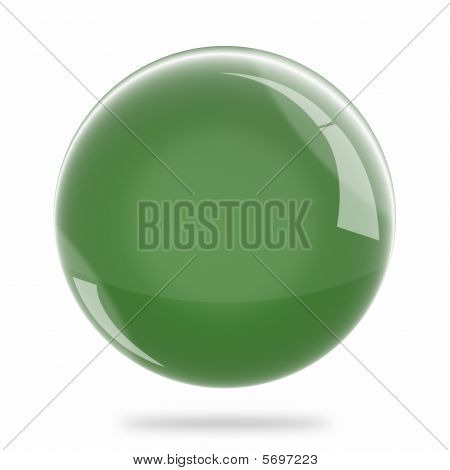 Blank Deep Green Sphere Float