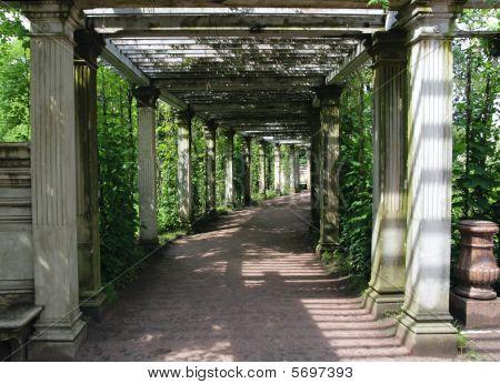 Catherine Park Gardens, Tsarskoye Selo (pushkin), St. Petersburg, Russia.