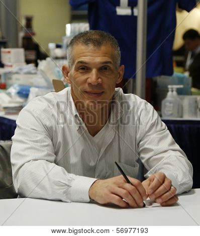 New York Yankees General Manager Joe Girardi during autographs session in New York
