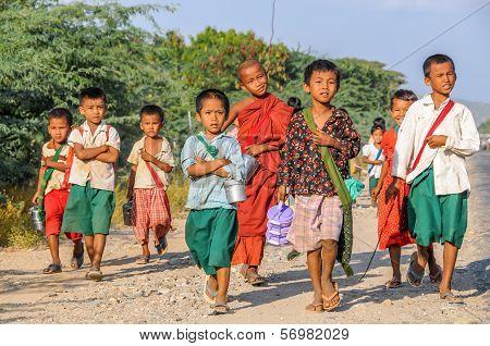 Children Go By The School
