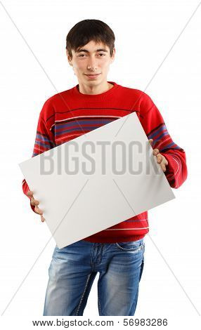 Man With Big Advertisement