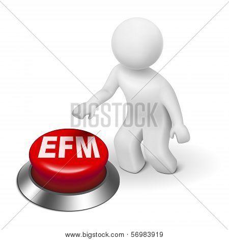 3D Man With Efm Enterprise Feedback Management Button