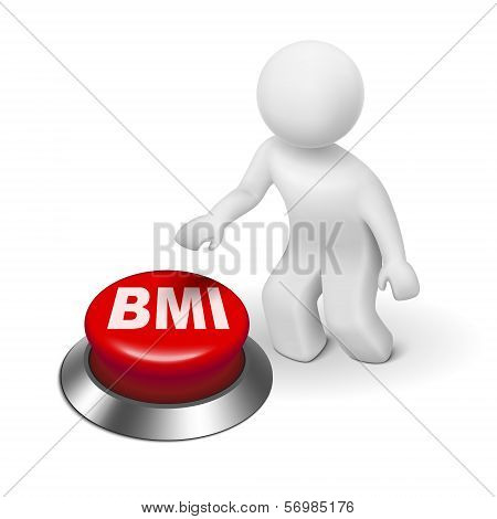 3D Man With Bmi ( Body Mass Index) Button