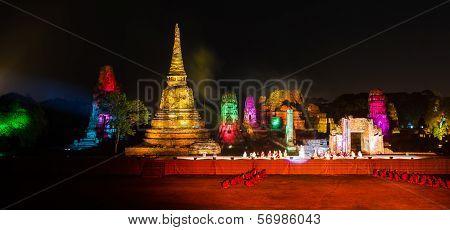 Ayutthaya Ligth & Sound Presentation And Thai Historical Acting On Dec 7-16, 2012