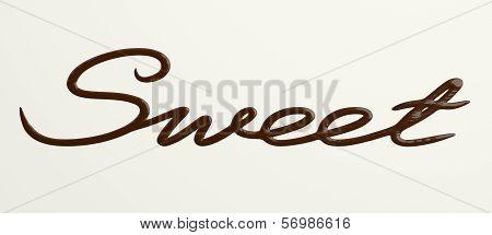 Chocolate Sweet text II