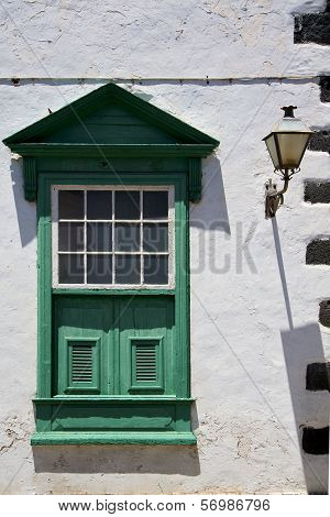 Street Lamp Lanzarote Abstract  Window   Green In The W