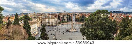 Piazza Del Popolo In Rome, Italy