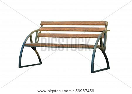 Bench On A White Background