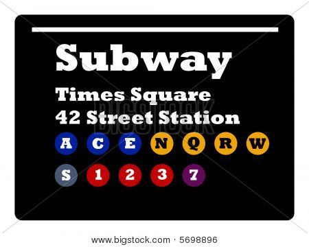 Times Square Subway Sign