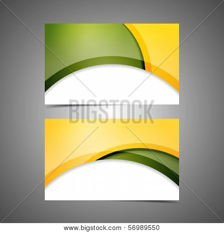 Set vector of modern professional business card