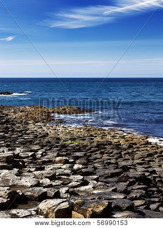 The famous Giant's Causeway of Northern Ireland