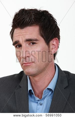 Unsure businessman