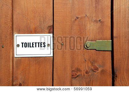 Wooden toilet door